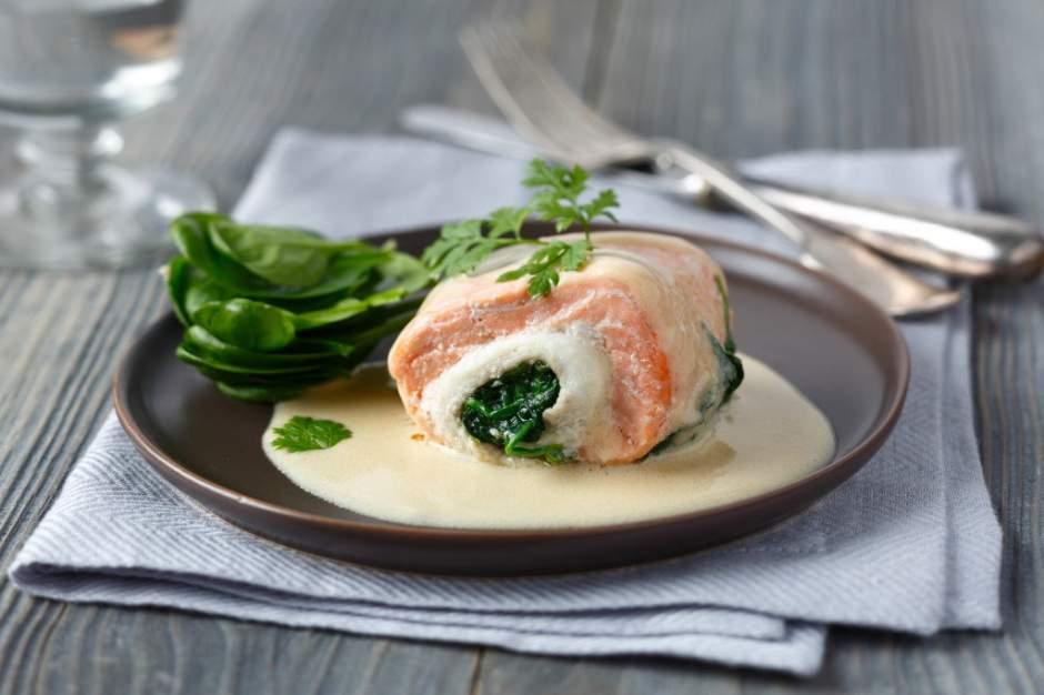 Paupiettes de saumon aux épinards